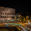 The Colosseum at night from Palazzo Manfredi, Rome