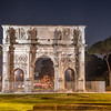 Arch of Constantine by night