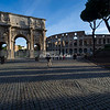 The Arch of Constantine and Colosseum