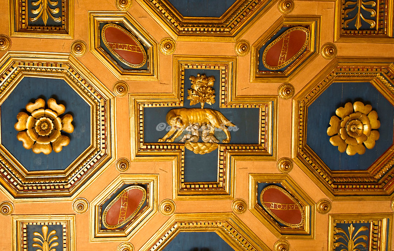 Detail ceiling, Church of SS Cosma e Damiano