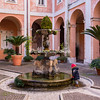 The fountain in the courtyard of SS Cosma e Damiano