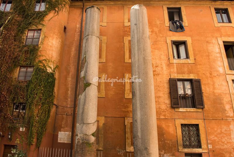 Roman columns near church of Sant Eustachio