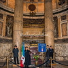 An honor guard at the Tomb of Umberto I one of Italy's last monarchs
