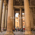 The enormous columns of the portico, Pantheon