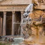Detail of fountain, Piazza Rotonda