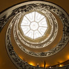 The spiral ramp of the Vatican Museum as seen from the bottom