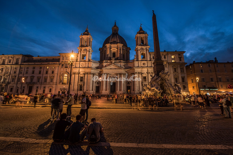 Piazza Navona by night, Rome