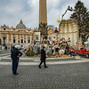 Dismantling the Presepio and Christmas Tree in St Peters Square after Epiphany