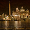 St. Peter's Square by night at Christmas time