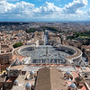 View from the Cupola, St Peters Basilica, Rome