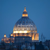 St Peter's Basilica by night