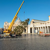 Removing the Christmas Tree from St Peters Square, Rome