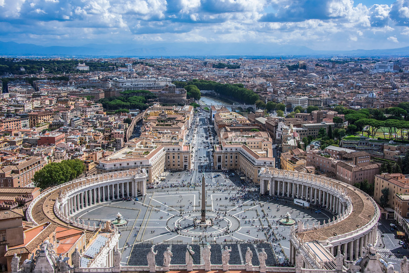 View from the Cupola, St Peter's Basilica, Rome