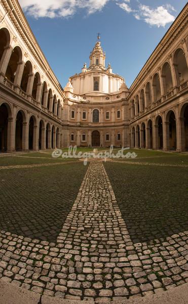 Courtyard, Sant Ivo della Sapienza