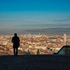 Overlooking Florence from San Miniato above Piazzale Michelangelo