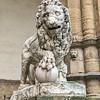 Statue of a Lion in the Loggia outside Palazzo Vecchio