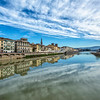 Looking east along the Arno River from Ponte Santa Trinita, Florence