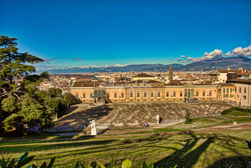 Palazzo Pitti from the Boboli Gardens
