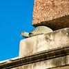Turtles hold up the obelisk in the Boboli Gardens