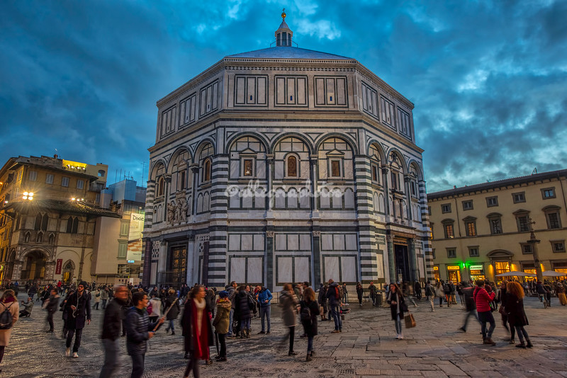 The Baptistry at sunset, Florence