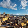 View of The Duomo and Palazzo Vecchio from the rooftop of Case degli Acciaiuoli, Florence