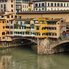 Details of the buildings on the Ponte Vecchio, Florence