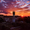 Sunset over Monterrigioni, Tuscany