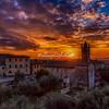 Sunset over Monteriggioni, Tuscany