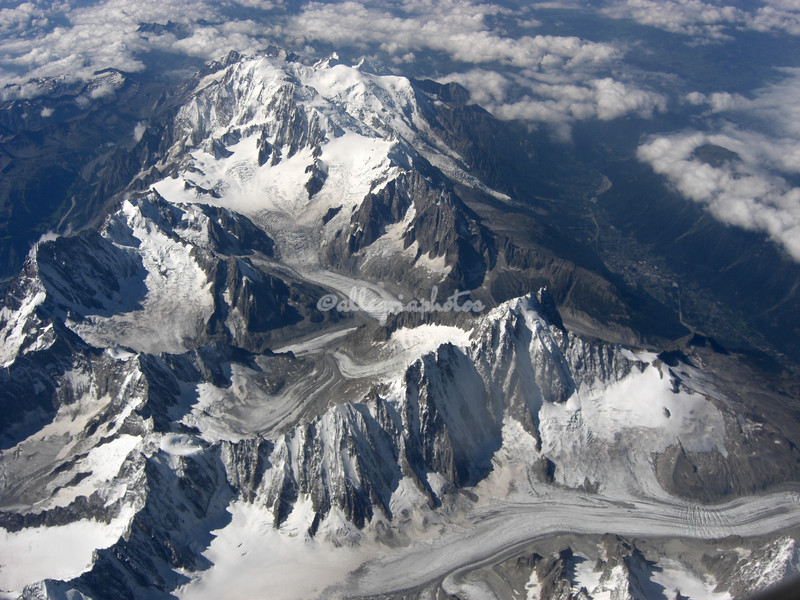Aerial View of the Alps, Italy