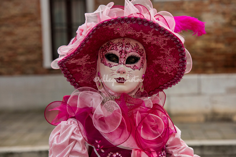 Close up, Lady in Pink