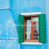 Blue walls and green shutters, Burano, Venice