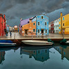 Storm clouds over Burano, Venice