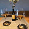 Two glasses of Dorona wine at Venissa, Mazzorbo, Venice