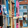 Washing day in Burano, Venice