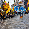 Parade of the contrade flags into the Piazza San Marco, Venice