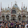 Crowds gather in Piazza San Marco, Venice, for the Festival of the Twelve Marias