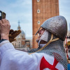 Modern Day Crusader taking a selfie, Venice