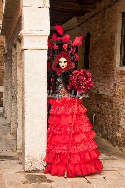 Lady in Red near Santa Maria della Salute