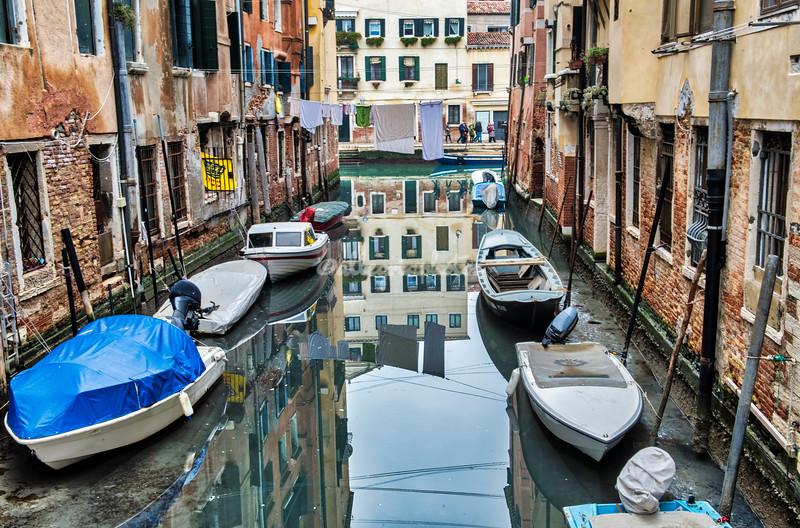 Typical Venetian canal scene, Venice