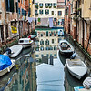 Typical Venetian canal scene, Venice