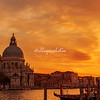 Sunset view of La Salute Church on the Grand Canal, Venice