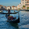 A gondola long the Grand Canal, Venice
