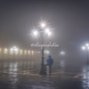 St Marks Square in the early morning fog, Venice