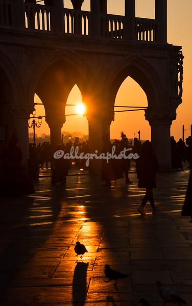 Sunrise through the Doge's Palace, Venice