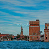 The seaward entrance to the Arsenale and Maritime Academy, Venice