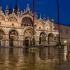 Contemplating Basilica San Marco in the early morning rain, Venice