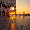 Sunrise through the Arches of the Doge's Palace, Venice