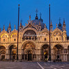 St Marks Basilica at dawn, St Marks Square,  Venice