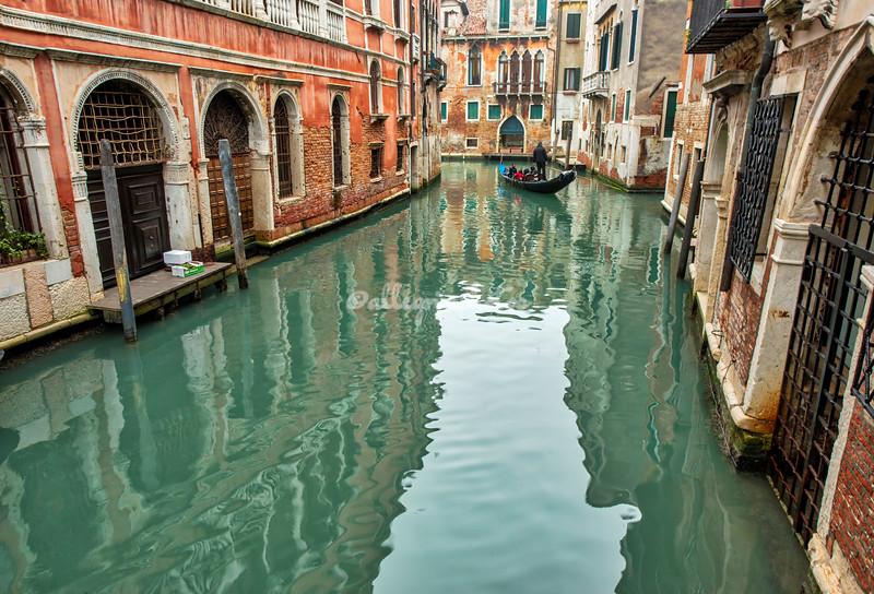 Gondola ride through the canals, Venice