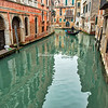 Gondola ride through the canals, Venice